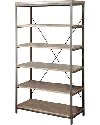 homelegance 3224n-17 bookcase made of wood and metal, 40 TRIVQDF