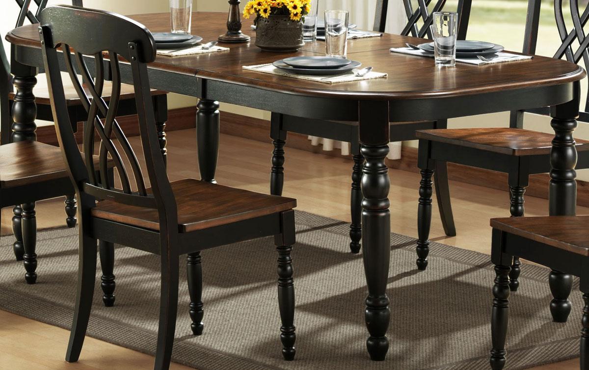 Homelegance Ohana black dining table OYCAKRW