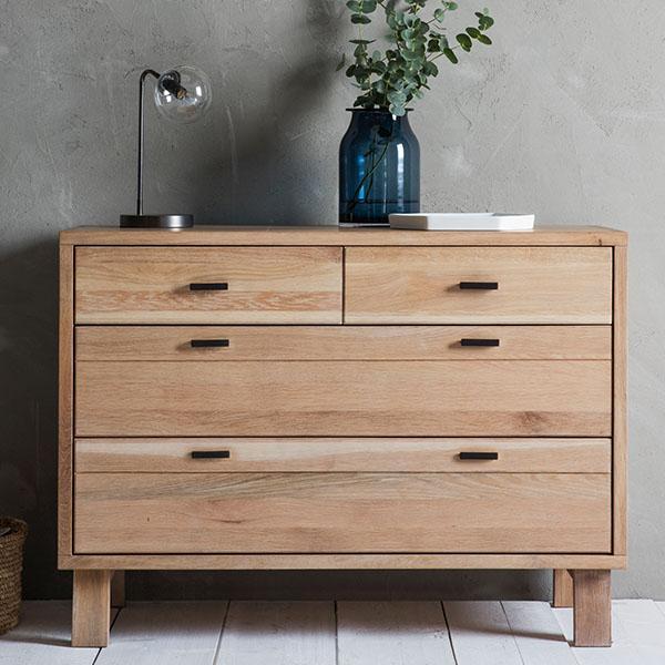 hudson living kielder oak chest of drawers RKJZIEF