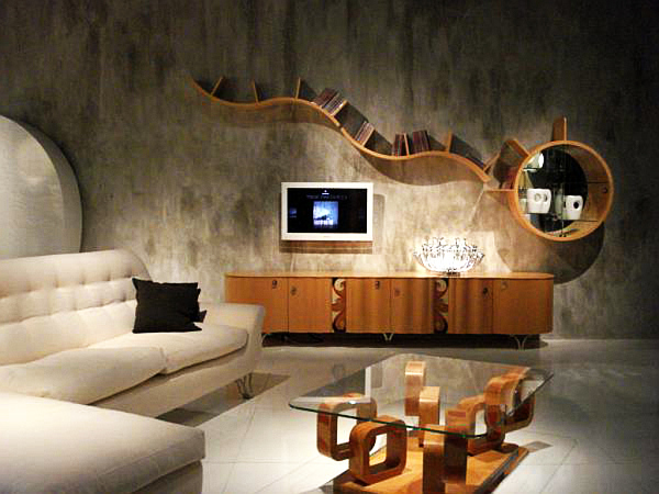 Innovative living room design that optimizes the floor space brings functionality and beauty to QMGOOUC