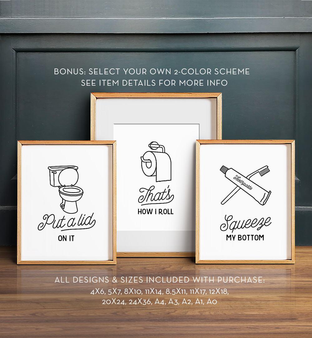 Install the best bathroom wall art for decor enhancement and KSDPEFU.  to grace