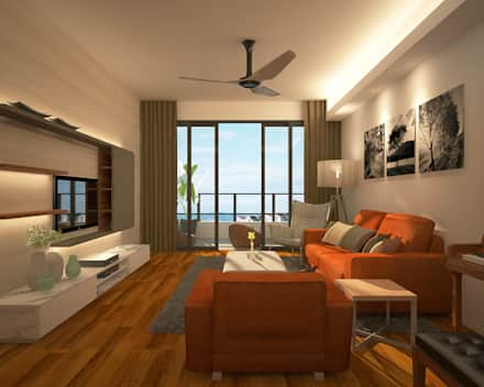 Interior design living room stonor luxury condominium: modern living room by indfinity design (m) sdn bhd ZSWGKIEWG