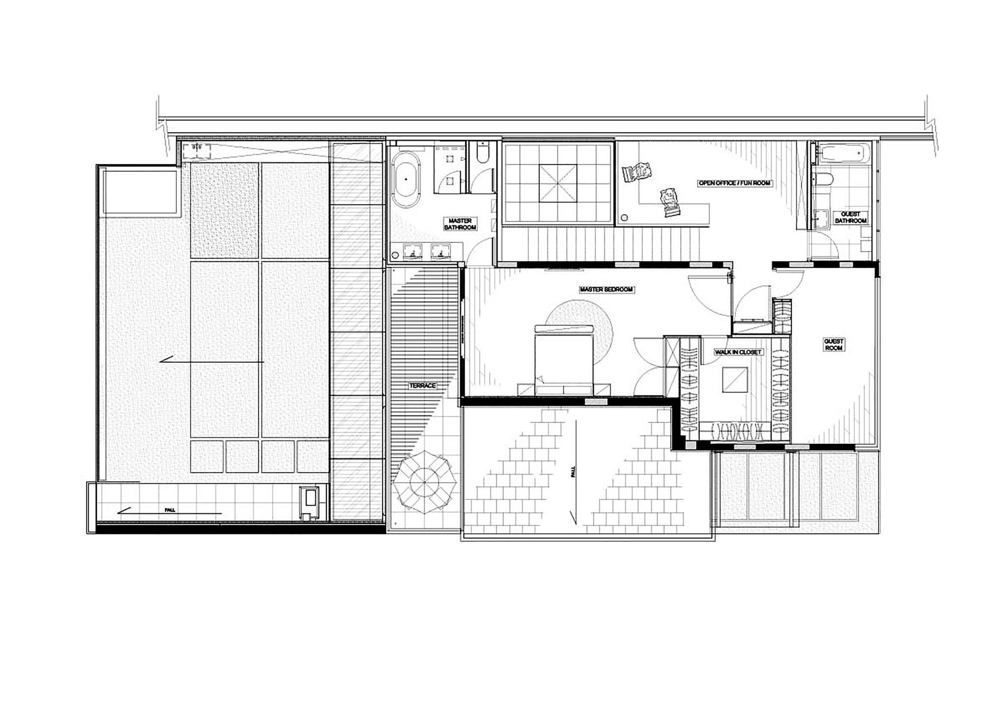Interior design plan house in Shatin Mid-Level, ground floor plan TZECSHA