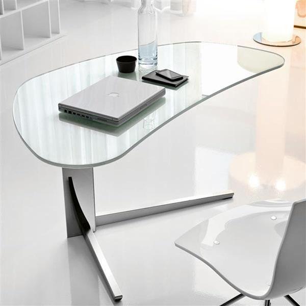 Island glass desk by cattelan SMKKJKE