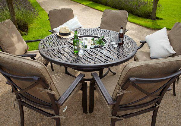 Jamie Oliver outdoor furniture modern table and chair set / aluminum / garden / residential - NSWNJBQ