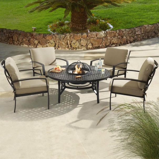 jamie oliver garden furniture hartman - jamie oliver 4 seat fireplace placemat - bronze WKZFWAZ