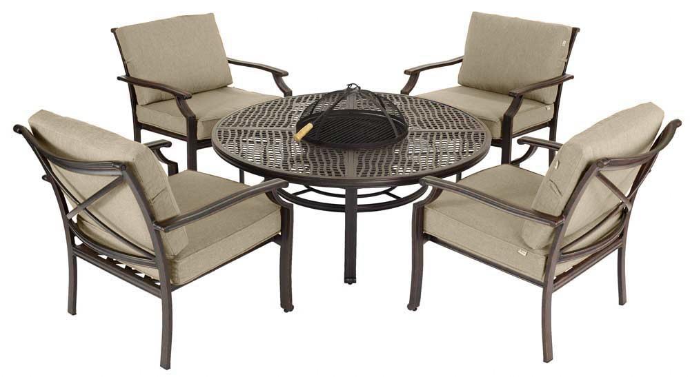 jamie oliver outdoor furniture jamie oliver 4 seat fireplace set & accessories DIXSJJV