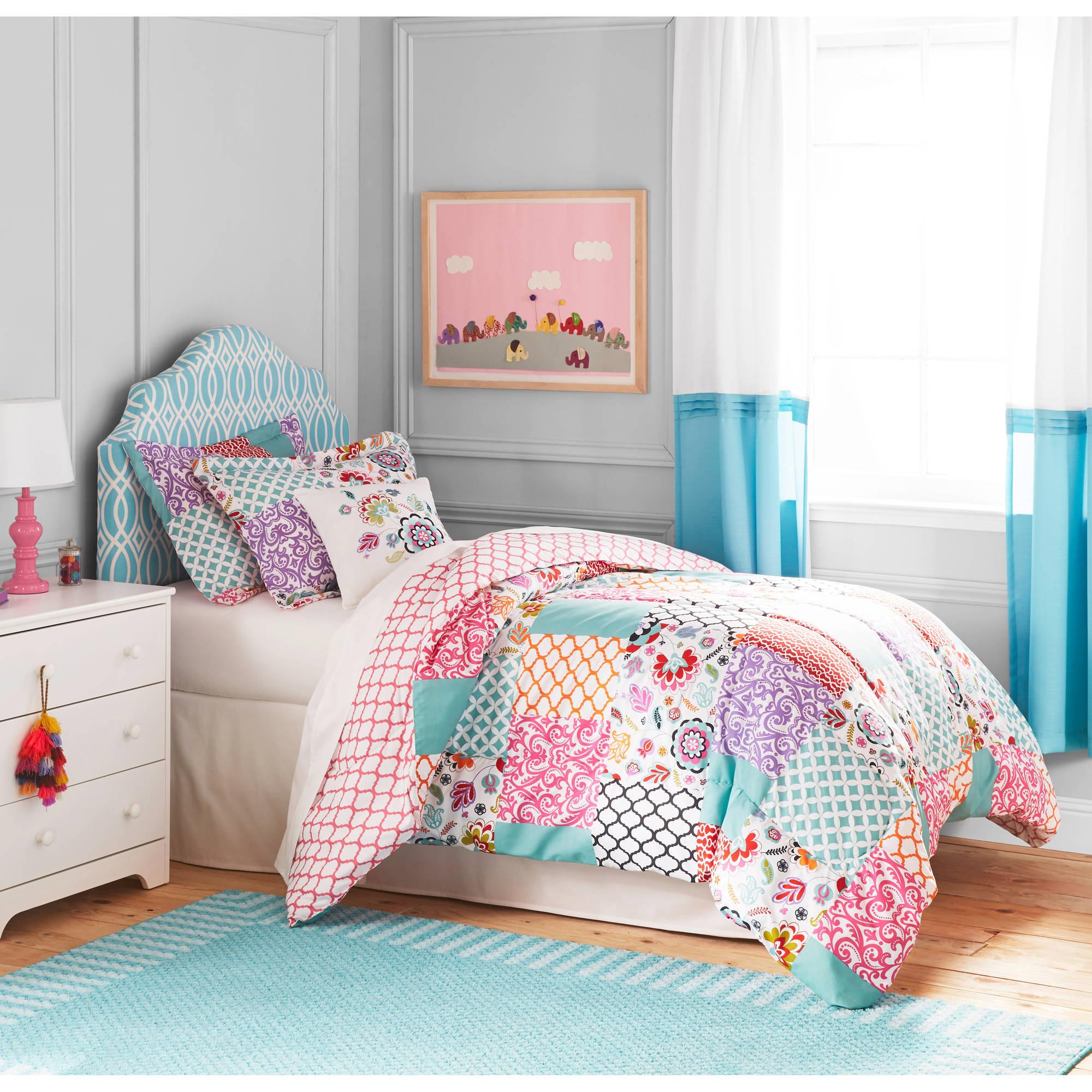 Children's Bedding Better Home and Garden Children's Boho Patchwork Bedding Duvet Set - VDEFXKN
