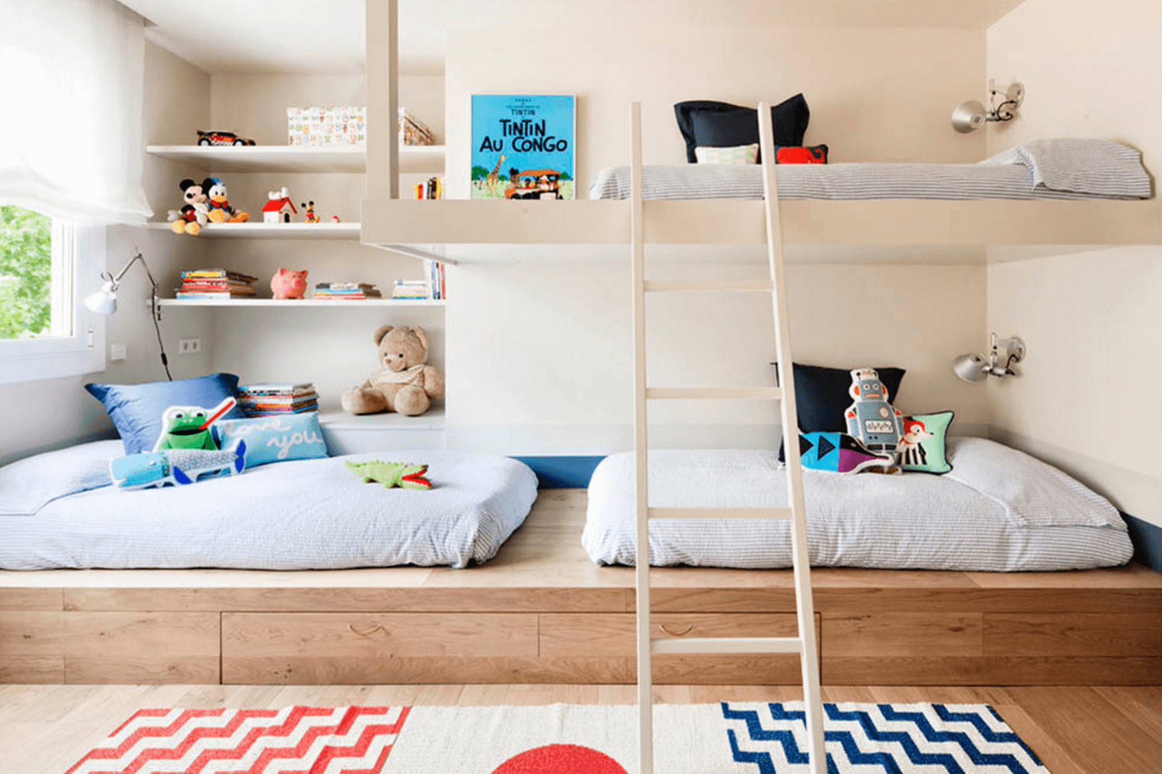 Children's room modern neutral bedroom UMNKDHI