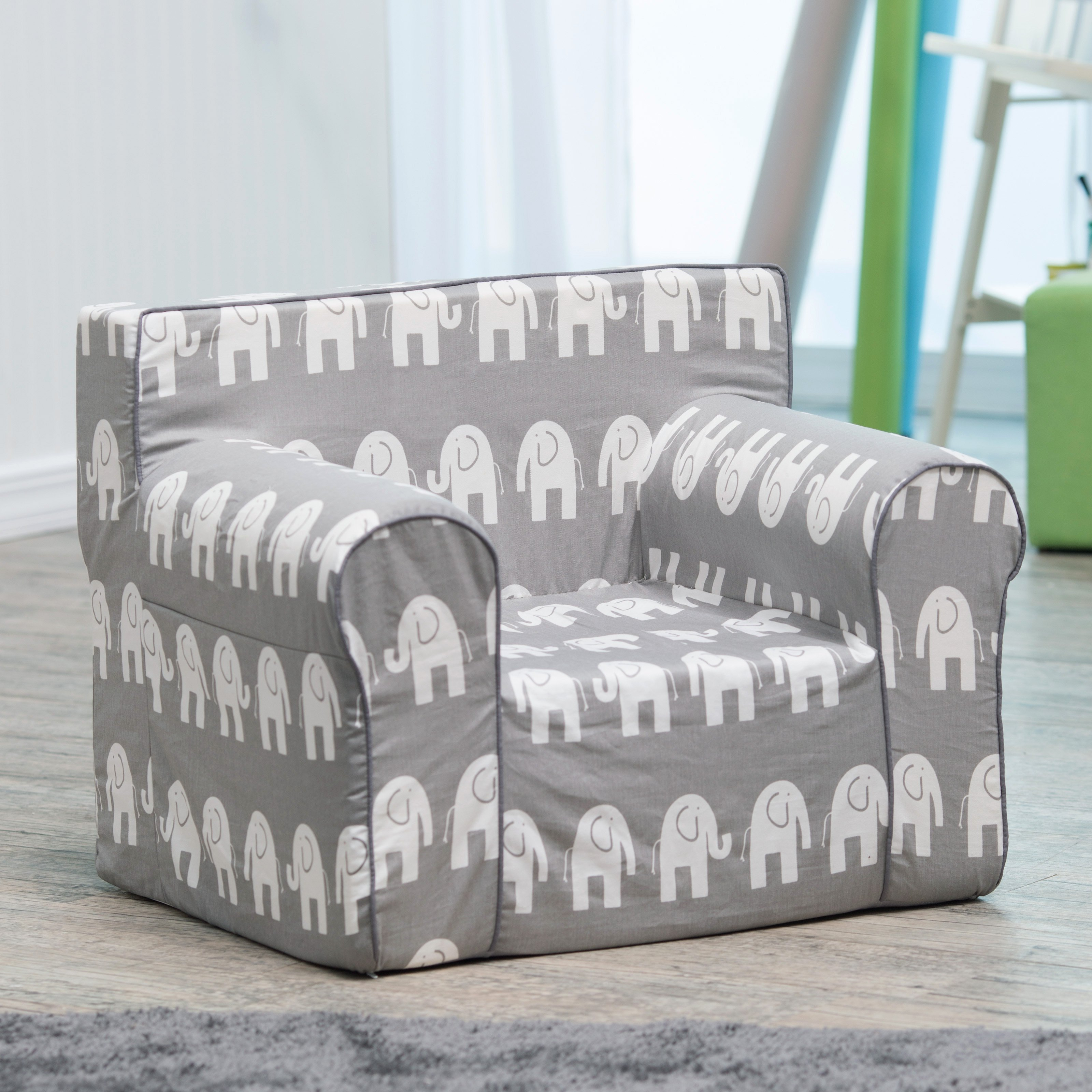 Children's chairs here and there personalized children's chair - gray elephant |  Hay needle WFGQAEF
