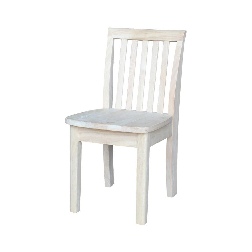 Children's chairs International Concepts Children's chair made of untreated wood (set of 2) IKJYLUO