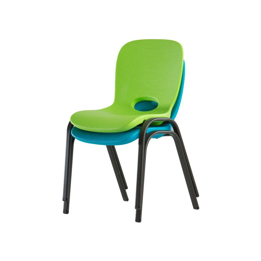 Children's chairs Lifetime lime green stackable children's chair (set of 4) SPVGBVV