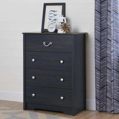 Children's dressers Aviron dresser with 4 drawers blueberry VJWBILR