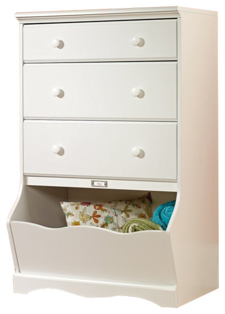 Children's chest of drawers Sauder Pogo chest of drawers with 3 drawers in soft white LKUWWSP