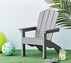 Children's garden furniture charcoal Adirondack chair VZGMEYS