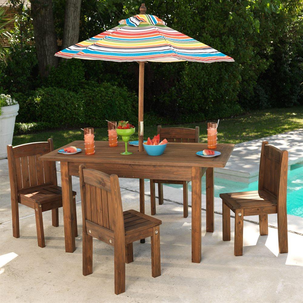 Children's outdoor furniture Children's outdoor chairs set QNTUUWN