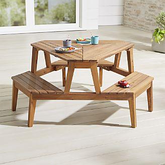 Children's garden furniture modern picnic table for children RLNSWGI