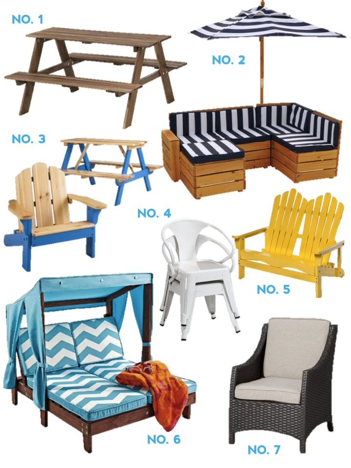 Children's furniture for outdoor use ZEUSYTO