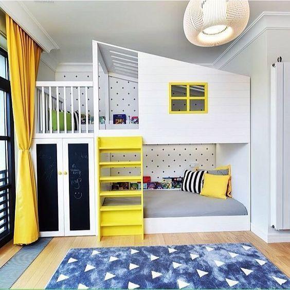 Children's room design 15 inspiring examples to freshen up the children's room with yellow details SUJOBSZ