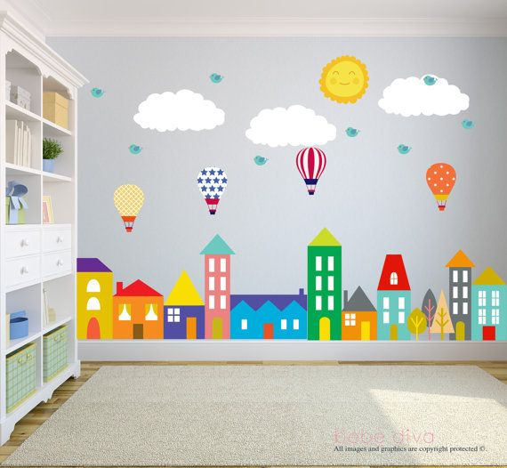 Wall decals for kids are a great addition to any nursery, playroom, or nursery and FSUDVTG