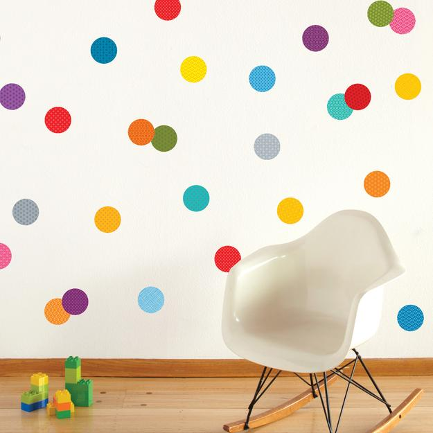 Children's wall decals Petit Collage confetti fabric wall decal UDRDVWB