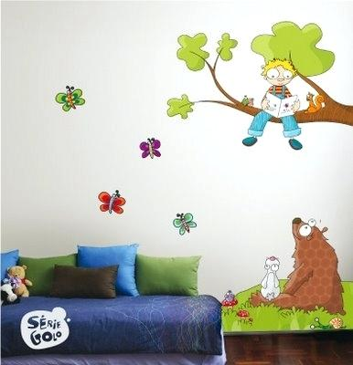 Children's wall decals Wall decals for children's rooms he must see cartoons or have KHSXFWC