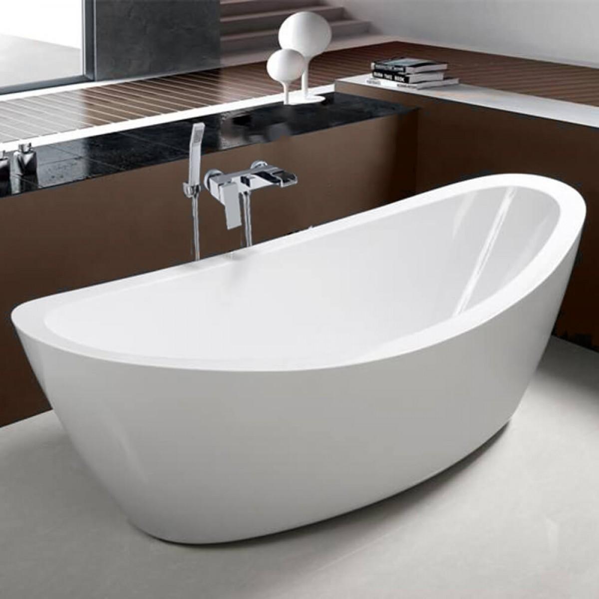 kirsty acrylic white freestanding bathtub - 1800 x 850mm XSHBINB