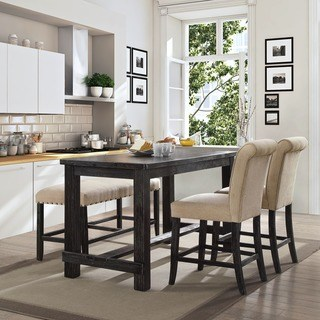 kitchen and dining room tables furniture from america telara modern antique black dining table at counter height OVNBTLI