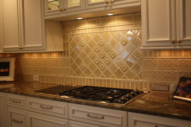 Kitchen back wall tile glazed porcelain stoneware tile backsplash traditional kitchen AOVAYYR