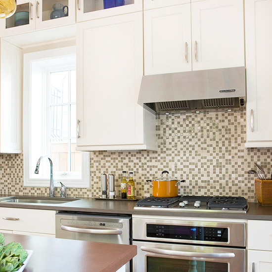 Kitchen back wall tiles Ideas for kitchen back walls: Ideas for tile back walls    better houses & gardens UPXFPNE