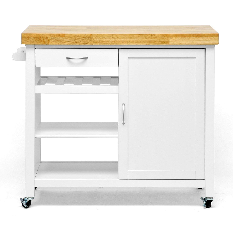 Kitchen trolley amazon.com: baxton studio denver modern kitchen trolley / island with butcher block plate, SBQDFVK