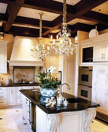 My $ 15 crystal chandelier |  Kitchen chandeliers, beautiful kitchens.