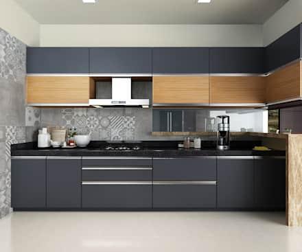 Kitchen design Subramaniam Krishnan: modern kitchen by neelanjan gupto design co OMYIVYW
