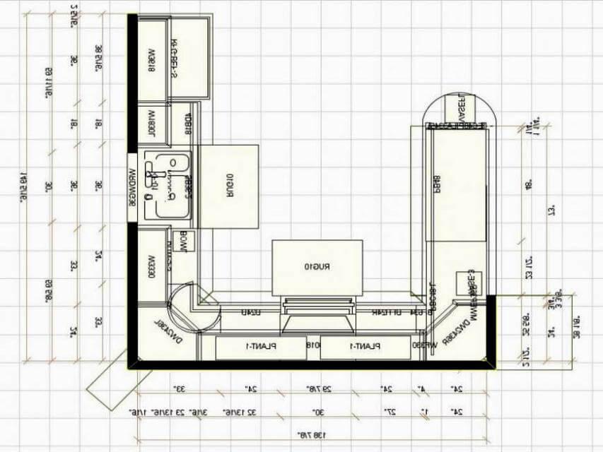 Kitchen floor plans small kitchen floor plan ideas image OAAJNHF