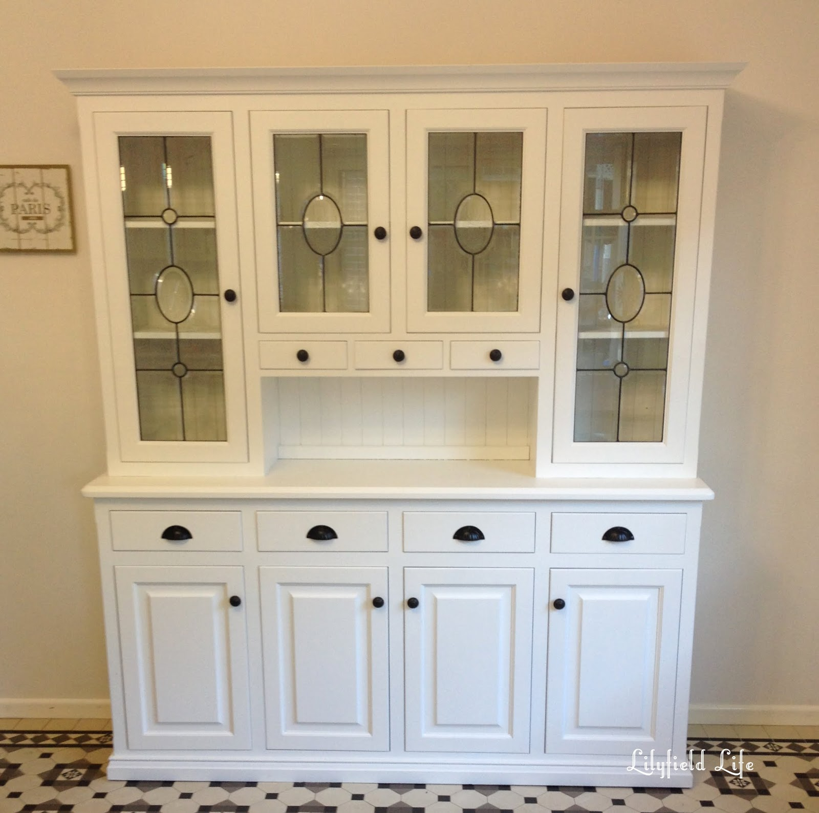 Kitchen cabinet white lacquered kitchen cabinet DKRVRGI