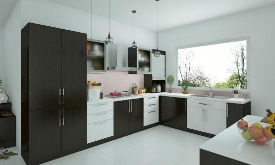 Kitchen interior curlew L-shaped kitchen VHDPRKU