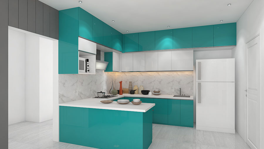 Services for the interior design of kitchens UZVCRZN