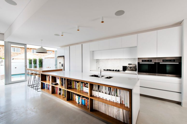 Kitchen island designs modern kitchen island could have enough storage space for cookbooks and IJQOOXV.  Offer