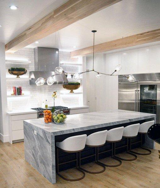 Top 50 Best Kitchen Island Lighting Ideas - Indoor Lighting