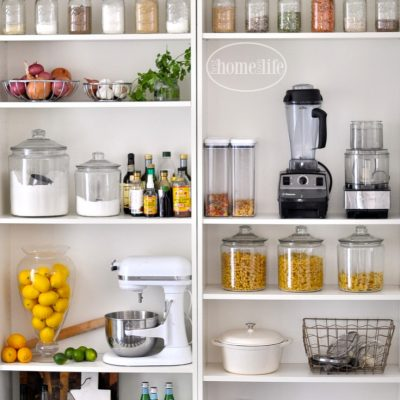 Kitchen organization open pantry with bookcases LYMZXPJ