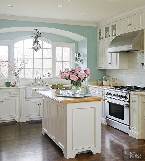 Kitchen colors with ideas for blue, gray, green and even white, this versatile ALLPRIT