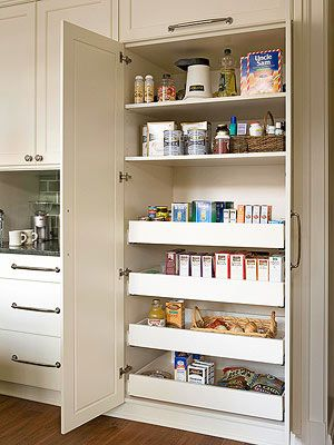 Kitchen pantry built-in pantry with large deep pull-outs.  Link has a lot of DUWFGQU