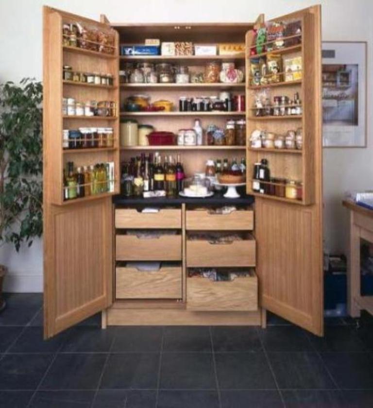 Kitchen pantry freestanding wooden pantry HLXBQKGQ