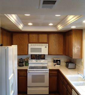 Kitchen lighting ideas Small kitchen |  Kitchen soffit, kitchen.