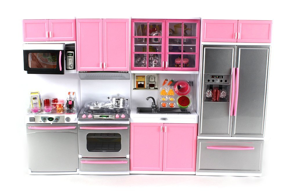 Kitchen sets amazon.com: & Deluxe modern kitchenu0027 battery-operated toy kitchen play set, perfect for ZVMRUFY