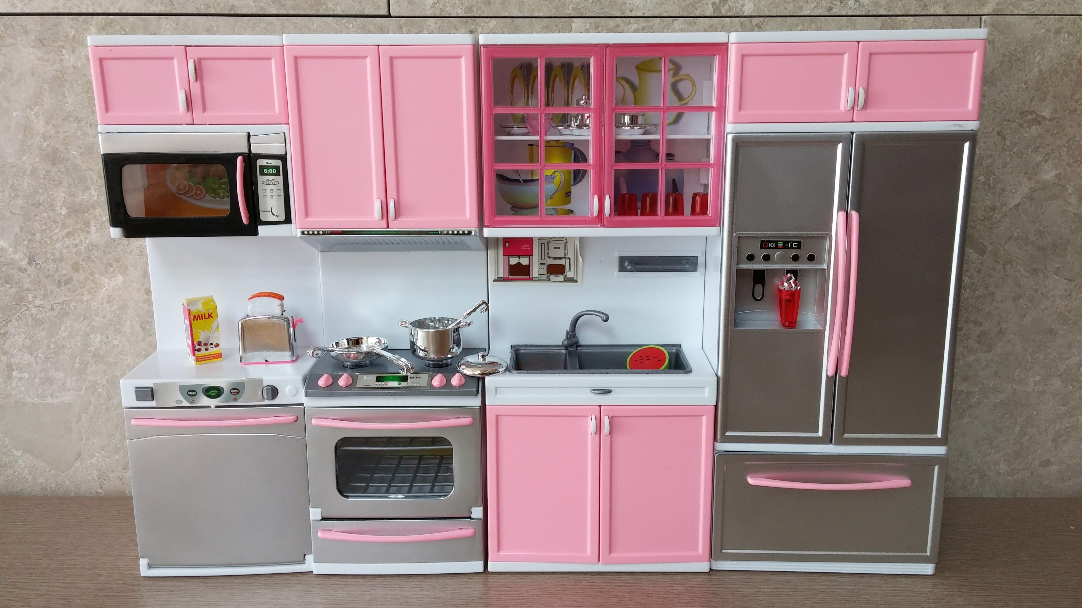 unpack kitchen sets new barbie kitchen set - deluxe modern toy kitchen - battery NMPHNWO