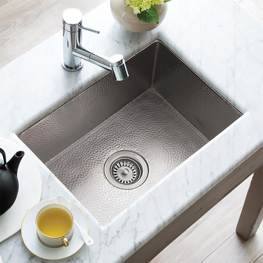 Kitchen sinks cocina 21 Kitchen sink in brushed nickel (cpk578) QLESRAH