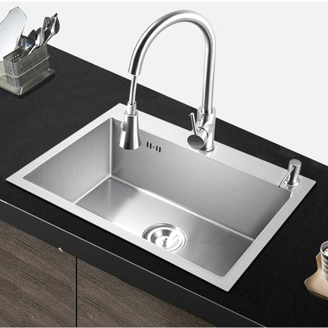 Kitchen sinks pia Kitchen sink single basin above the counter or under-mounting, handmade RHZYYKX
