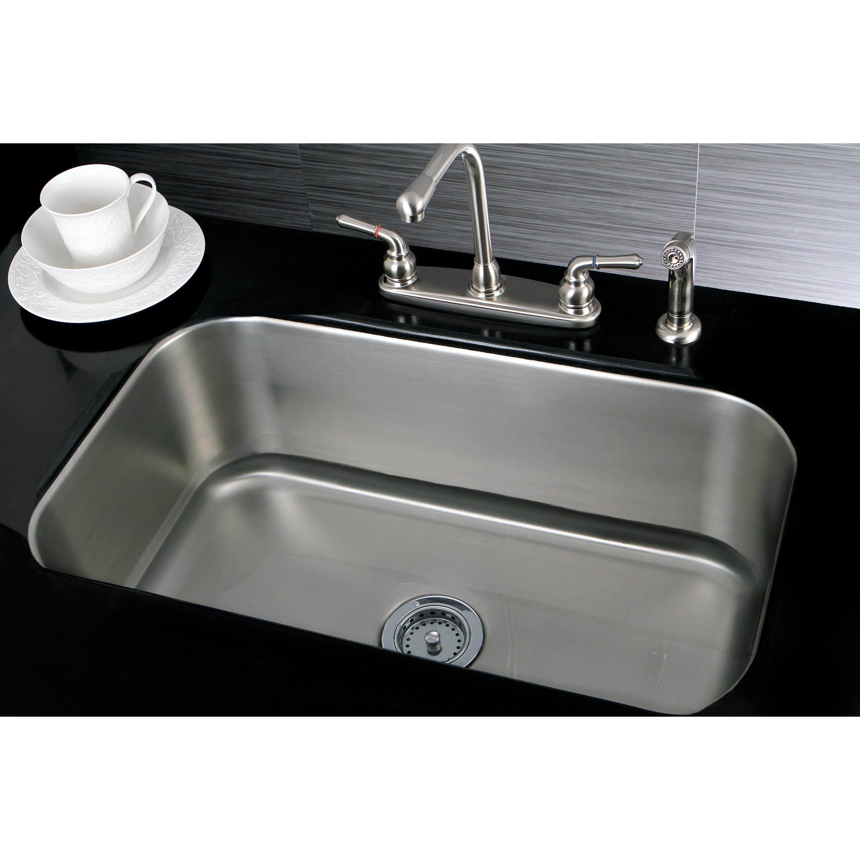 Sink Shop Single Sink 30 Inch Stainless Steel Undermount Sink - Free QNQAZSD