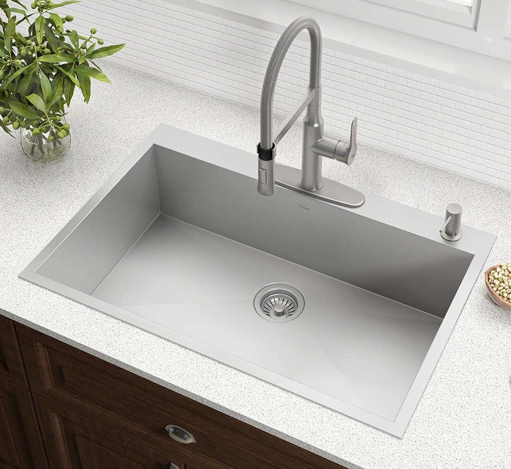 Kitchen sinks wi-radius 33-inch stainless steel sink CGCUIKV